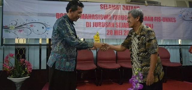 Kunjungan Jurusan Sejarah Universitas Negeri Semarang dengan Jurusan Sejarah Fakultas Ilmu Sosial UNJ