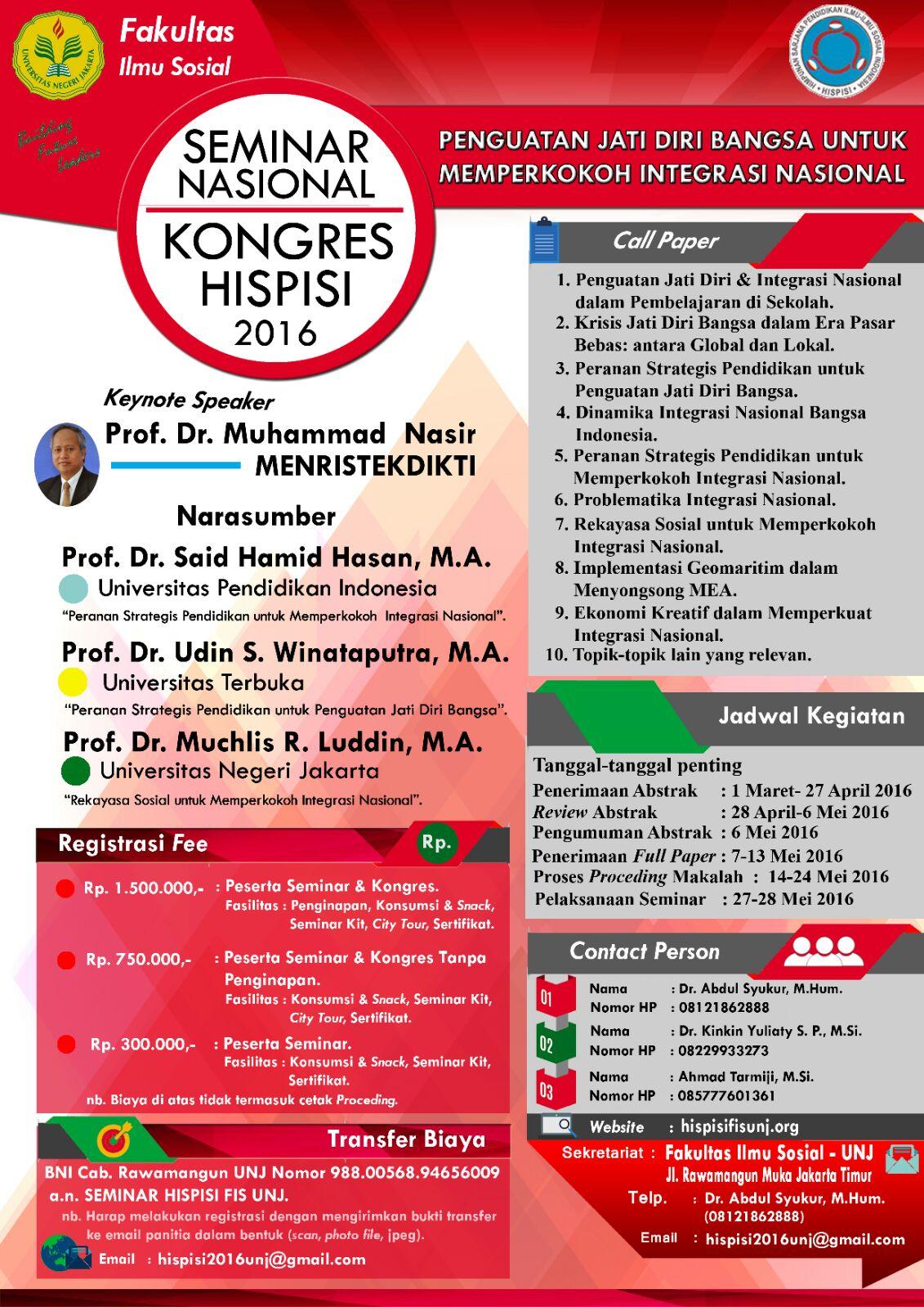 Seminar Nasional dan Kongres HISPISI 2016