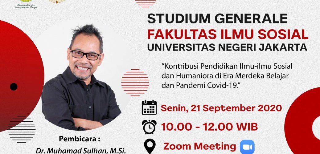Fakultas Ilmu Sosial UNJ Perdana Selenggarakan Studium Generale Secara Daring