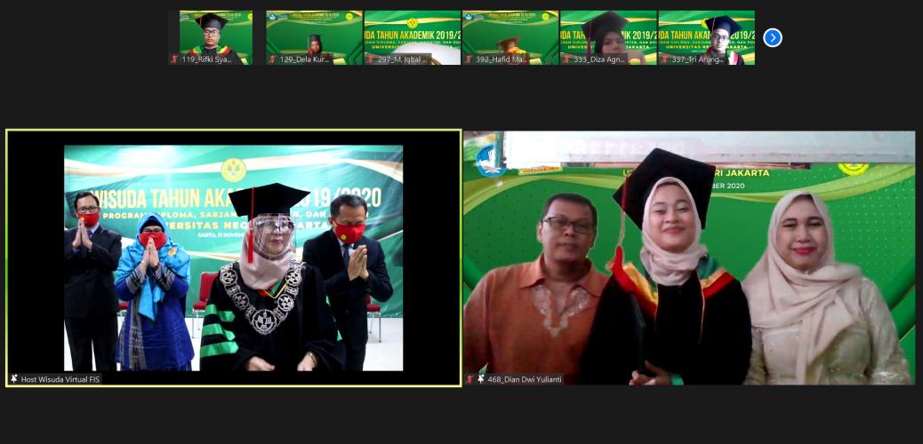 Fakultas Ilmu Sosial Universitas Negeri Jakarta Selenggarakan Wisuda Semester 112 Secara Daring