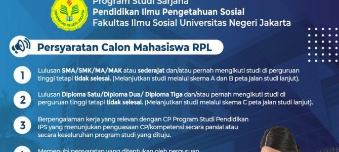 Penerimaan Mahasiswa RPL Prodi Pendidikan IPS